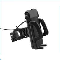 ingrosso supporto per telefono cellulare impermeabile per moto-2 in 1 IP65 impermeabile supporto del telefono cellulare del motociclo con 5V 2.4A USB interruttore di alimentazione del caricatore 4,5FT cavo di alimentazione UCH-01 30PCS / LOT IN RETAIL