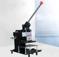Wholesale stamp printer machine resale online - Manual hot stamping machine Leather embossing LOGO Branding machine Hot mark machine V mm