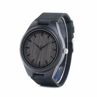 Wholesale custom logo watches online - BOBO BIRD Cheap Watch Men Quartz Wooden WristWatches masculinos relogios in Gift Box custom logo S914