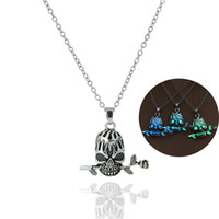 bf955e60d Wholesale arts skeletons for sale - Halloween Man Woman Pendant Stainless  Steel Skull Rose Luminous Necklace