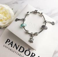 glasperlen große löcher großhandel-Mode hochwertige Designer Damen Strass Textur große Loch Perlen Glasperlen Armband Schmuck Zubehör