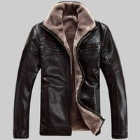 Wholesale Men Cashmere Fur Coats - Wholesale-New Men's Leather Jacket Men Coats 6XL Brand High Quality Natural sheep skin Outerwear Men Business Winter Faux Fur Male Jackets