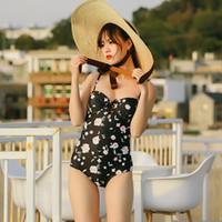 monokini drucken großhandel-Badeanzug Sexy Badebekleidung Frauen Badeanzug Sommer Strand Tragen Tie Dye Print Strand Monokini