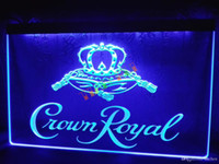 Wholesale crown derby - LE104-b Crown Royal Derby Whiskey NR beer Bar Light Sign home decor shop crafts led sign