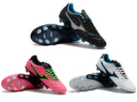 Wholesale eva 3d - 2018 Mizunos TOP Rebula V1 Genuine Leather Men Soccer 3D Outdoor Soccer Cleats AAA+ Quality Football Boost FG Size 39-45