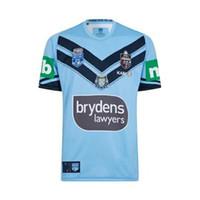pro jersey s оптовых-2019 NSW BLUES HOME PRO JERSEY штата Новый Южный Уэльс 2018 ELITE TRAINING TEE LIGHT NSW SOO 2018 Размер трикотажа RUGBY S-L-XL-XXL-3XL-4XL-5XL