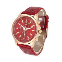 Wholesale pu faux watches for sale - 2018 NEW Unisex Casual Faux Leather Quartz Analog Wrist Watch wristwatch fashion watches