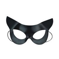 máscara facial catwoman venda por atacado-Máscara de Olho Preta Metade do Rosto Sexy Catwoman Máscara para o Dia das Bruxas Masquerade Traje Do Partido Bola Fancy Dress