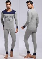 Wholesale Brand Lounge - Fashion 1 set mens Pajamas underwear sleepwear cotton modal pants robe Lounge Manview brand new keep warm long sleeve home suits