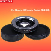 Wholesale Pentax Body - Camera Lens Mount Adapter with Optical Glass for Minolta MD Lens to Pentax PK DSLR Body Infinity Focus MD-PK