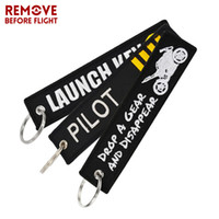 Wholesale Keychain Motorcycle - One Piece Novelty Keychain Launch Key Chain Keychains for Motorcycles and Cars Key Tag Embroidery OEM Never Give Up Keychain