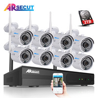 Wholesale wireless ip camera hd ir resale online - Newest Plug And Play CH Wireless NVR CCTV System P2P P HD Outdoor IR Night Vision WIFI IP Camera Video Surveillance System