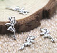 Wholesale tiny pendants for sale - Group buy 60pcs tiny fairy Charms Antique Tibetan silver tiny fairy fairy tale charm pendants x8mm