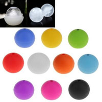 Wholesale ice ball sphere maker - 10 Colors 6cm Round Ice Mold Silicone Mold Large Whisky Ice Ball Maker Cube Silicone Bar Sphere Round Mould Sphere DIY Mold CCA9744 100pcs