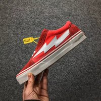 Wholesale Chocolate Footwear - NEW KANYE REVENGE X STORM OLD SKOOL BLACK RED YELLOW CASUAL SHOES KENDALL JENNER BEST FOOTWEAR IAN CONNOR FASHION CURRENT TRAINING SNEAKERS