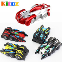 Wholesale Toy Climbing Car - Kitoz 2017 New Rc Wall Climbing Car Remote Control Anti Gravity Ceiling Racing Car Electric Toy Machine Auto Gift For Children