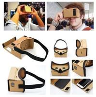 3d gläser für handy großhandel-DIY Google Pappe Virtual Reality Brille VR Handy 3D-Brille Party Favors CCA9251 150St