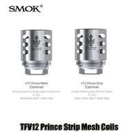 Wholesale New Replacement Heads - 100% Original SMOK TFV12 Prince Tank Atomizer New Coil V12 Strip Mesh 0.15ohm Replacement Coil Head Core Genuine SMOKTECH