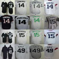 Wholesale David Beckham - HOT sale Chicago Jersey #14 Paul Konerko 15 Gordon Beckham 49 Chris Sale Black Grey White Flex Cool Base Cheap Baseball Jerseys Wholesale