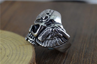 Wholesale engine ring resale online - unk Skull Engine Titanium Rings Jewerly Popular Personality Motorcycle Rock Rings Men Harley Rings Drop Shipping halloween
