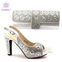9ad5a2bc Al por mayor juego de zapatos de plata en venta - Clearluv 17110116  Zapatillas y zapatillas