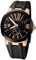 caras de reloj de pulsera al por mayor-Top vende hombre reloj cara negra acero inoxidable movimiento automático para hombre reloj de pulsera mecánico Relojes UN11