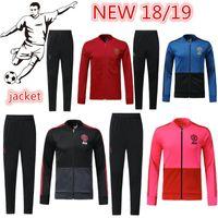 7a1bb0346 Top quality 2018 2019 Manchester United adult jacket set LUKAKU POGBA red  blue pink black football clothing ALEXIS jacket retail wholesaler