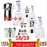 Wholesale men s home pants - adult kit+socks 2019 RONALDO JUVENTUS Soccer Jersey 18 19 Home Away DYBALA MATUIDI Camisetas Futbol Camisas Maillot Football Shirt and pant