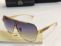 Wholesale titanium rimless eyewear resale online - Top luxury K gold men eyewear car brand Maybach designer glasses Pilot titanium frame top quantity outdoor uv400 sunglassest with box