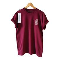 519b853b4958 New Summer Tee Short Sleeves Pineapple Printed Basic Women T-shirt Sweet  Preppy Style Clothing S-3XL Size