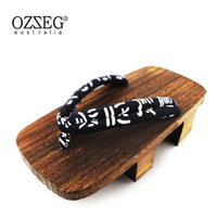 Wholesale Clogs New - New Japanese GETA Clogs Mens Wooden Bidentate Flops Flip Wood Sandals Shoes summers wedge sandals Cosplay shoes