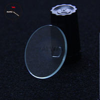 Wholesale 2pcs lot Flat Mineral Watch Glass,34~35mm Watch Glass With Date Lens for glass replacement