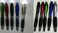 promoções de toque venda por atacado-Promoção levou luz caneta stylus ball pen touch screen LED caneta esferográfica imprimir logotipo personalizado