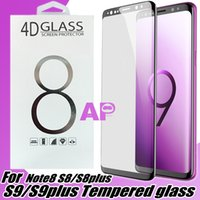 Wholesale Glass 3d - For Iphone X 10 Samsung S9 Note8 S8 Plus galaxy Note 8 Tempered Glass Full Screen color Protector 3D Curved S7 Edge