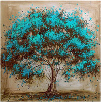mavi ağaç boyama toptan satış-Kare / Yuvarlak Matkap 5D DIY Elmas Boyama