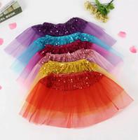 coreano moda vestidos para crianças venda por atacado-Tendências da moda Bebê Tutu Vestido de Organza Crianças saias New Korean Princess Malha Fios saias Crianças Roupas Fabricantes atacado