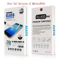 Wholesale zte avid - Tempered Glass case For LG Aristo 2 Metropcs LG Tribute Dynasty Boost For ZTE Avid 4 MetroPCS Screen protective With retail packaging B