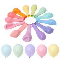 ingrosso decorazione in lattice-Unicorn Party 100pcs 10inch Macaron Colore Latex Balloon Decorazione di cerimonia nuziale Baby Birthday Party San Valentino Decor Balloon