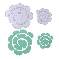 Wholesale diy handmade photo album - 2pcs Rose Flower Roll Metal Cutting Dies Stencils for DIY Scrapbooking Photo Album DIY Handmade Craft Home Decoration