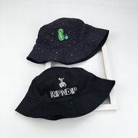 Wholesale kitty cat hats for sale - Group buy Outdoor Accs Bad Cat Kitty Alien Pee Earth Spoof Joking Cartoon Black Bucket Hat Double Sided Antiviolet Creative Women Sun Cap