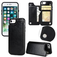 ingrosso caso doppio portafoglio iphone-Custodia a portafoglio per iPhone XS, Cover posteriore magnetica con supporto per cellulare premium in pelle PU per iPhone 5, 6, 7, 8, X, XS, XS MAX, XR