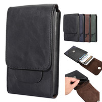 Wholesale waist pouch belt clip online - For iPhone X Plus Universal PU Leather Phone Case Outdoor Dual Bags Waist Belt Pouch Holder For Samsung S9 S8 S8 Plus