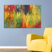 Wholesale Colorful Posters - Wall Art Oil painting Colorful Abstract Home Decor Wall Pictures for Living Room Posters and Prints on Canvas no Framed