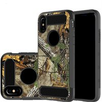 Wholesale Cases For Zte - For LG LV3 2018 Hybrid Armor Camouflage Tree Shockproof Case for LG Aristo 2 ZTE N9137 Samsung S9 Plus iPhone X 8 Opp