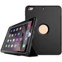 couverture de protection intelligente magnétique achat en gros de-Coque pour iPad 2017 9.7 Résistant aux chocs Full Body Cover de protection Magnétique PU Leather Smart Case pour iPad 9.7