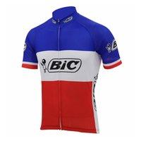 tur france jersey top toptan satış-2018 Nefes Takım BIC Bisiklet Formaları Hızlı Kuru Tour De France mtb bisiklet Gömlek Yüksek Kalite Kısa Kollu dağ Bisikleti F2912 Tops