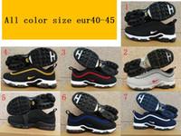 Wholesale Plus Size Black Tops - 2018 Hot Sale Airs Cushion Plus Tn 97 Men Running shoes for Top quality Fashion Drop Plastic shoes Vapormax Size Eur 40-45