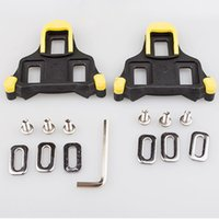 Wholesale Lock Pedals - New Road Bicycle Self-locking Pedal Cleat Shoes Lock Cycling Pedal Lock Road Bike Cleat Yellow Red Colors