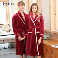 b6fe85ec3f Fashion Luxury Quality Couple Bathrobe Flannel Lovers Sleepwear Bathrobe Men  Male Winter Sleepwear Warm Women Female. 38% Off