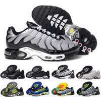 Wholesale New Style Flat Shoes - Drop Shipping New Style TN Air Shoes Mens Running Shoes Air Plus TN Ultra Shoes Sports Chaussures TN Requin Sneakers EU SZ40-46